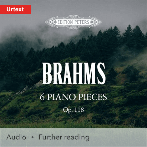 Cover - 6 Pieces for Piano Op. 118 - Brahms