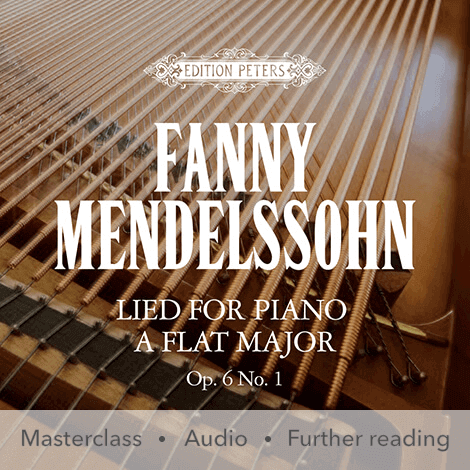 Cover - Lied for Piano in A flat major Op. 6 No. 1  - Fanny Mendelssohn