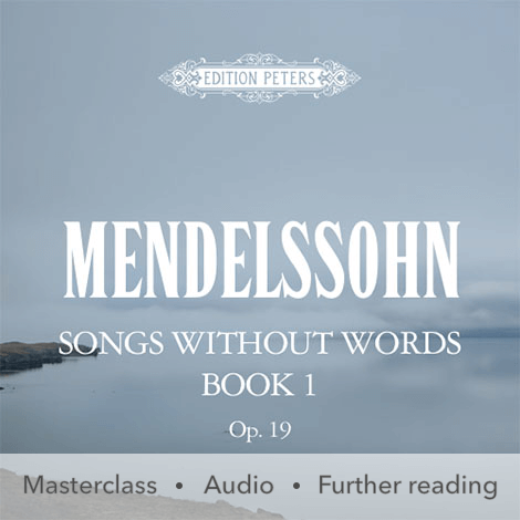 Cover - Songs Without Words Book 1 Op. 19 - Mendelssohn