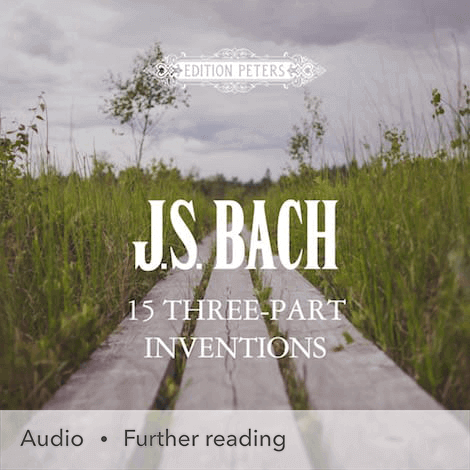 Cover - 15 Three-part Inventions (Sinfonias) - J. S. Bach
