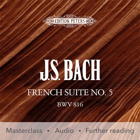 Cover - French Suite No. 5 BWV 816 - J. S. Bach