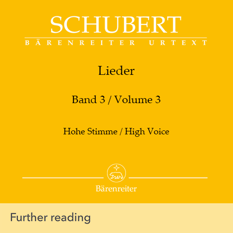 Cover - Lieder Vol. 3 (High Voice) - Franz Schubert