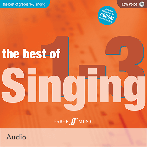 Cover - The Best of Singing Grades 1 - 3 (Low Voice) - Various