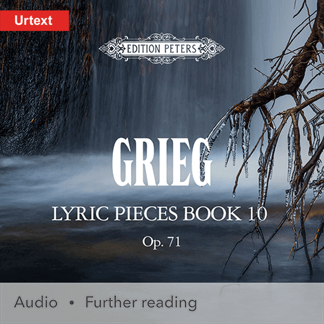 Cover - Lyric Pieces, Book 10, Op. 71 - Edvard Grieg