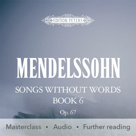 Cover - Songs Without Words Book 6 Op. 67 - Mendelssohn