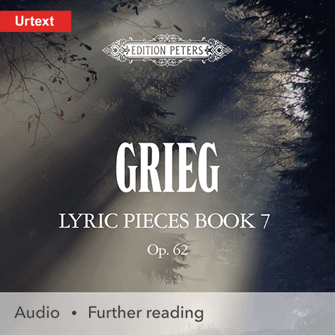 Cover - Lyric Pieces, Book 7, Op. 62 - Edvard Grieg