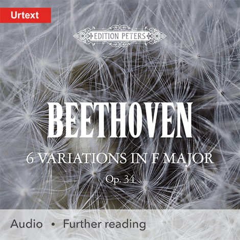 Cover - 6 Variations in F major Op. 34 - Beethoven