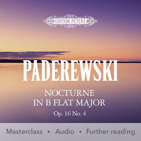 Cover - Nocturne in B flat major Op. 16 No. 4 - Paderewski