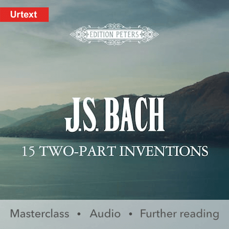 Cover - 15 Two-part Inventions - Johann Sebastian Bach